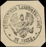 Zeitz: K. Landratsamt In Zeitz Siegelmarke - Cinderellas