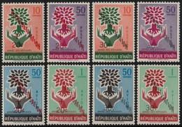 ~~~ Haiti 1960 - Contre Analphabetisme  - Mi. 621/628 ** MNH  Depart 1 Euro ~~~ - Haiti