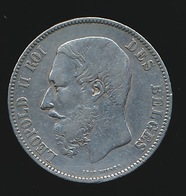 BELGIE LEOPOLD II  5 FRANC  1868    MOOIE KWALITEIT  2 SCANS - 09. 5 Francs