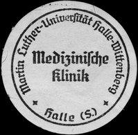 Halle/Saale: Medizinische Klinik Martin Luther Universität Siegelmarke - Cinderellas