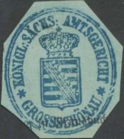 Großschönau: K.S. Amtsgericht Grossschönau Siegelmarke - Cinderellas