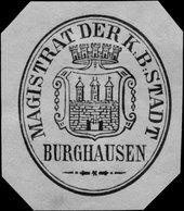 Burghausen: Magistrat Der K.B. Stadt Burghausen Siegelmarke - Cinderellas