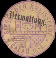 Calau/Lausitz: Siegel Der Kreisstadt Calau Siegelmarke - Cinderellas
