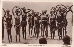 CPA, Photo Carte Native Dance, Upper Nile, Groupe De Jeunes Filles Seins Nus Dansant - Soudan