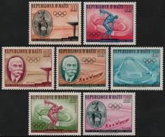 ~~~ Haiti 1960 - Jeux Olympiques Rome  - Mi. 629/635 ** MNH  ~~~ - Haití
