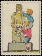 Kinder Sammeln Reklamemarken Am Automaten Reklamemarke - Vignetten (Erinnophilie)