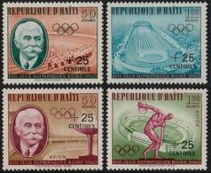 ~~~ Haiti 1960 - Jeux Olympiques Rome Avec Surcharge 0.25  - Mi. 636/639 ** MNH  ~~~ - Haití