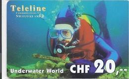SWITZERLAND - TELELINE - UNDERWATER WORLD - DIVER - Suisse
