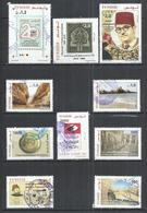 TEN AT A TIME - TUNISIA 2017-2018 - LOT OF 10 DIFFERENT COMMEMORATIVE  - POSTALLY USED OBLITERE GESTEMPELT USADO - Tunisie (1956-...)