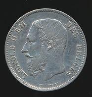 BELGIE LEOPOLD II  5 FRANC  1869    TOP KWALITEIT  2 SCANS - 09. 5 Francs