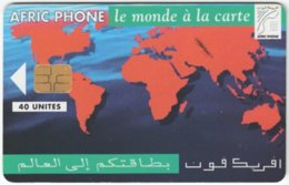 MAROC A-313 Chip AfricPhone - Map, World - 40 Units - Used - Morocco