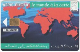 MAROC A-314 Chip AfricPhone - Map, World - 100 Units - Used - Morocco
