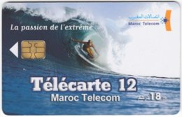 MAROC A-326 Chip Telecom - Leisure, Surfing - Used - Morocco