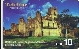 SWITZERLAND - TELELINE - CASTLE OF EMPEROR FASILADAS GONDAR ETHIOPIA - Suiza