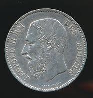 BELGIE LEOPOLD II  5 FRANC  1870    TOP KWALITEIT  2 SCANS - 09. 5 Francs