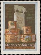 Nürnberg: Ochsenmaulsalat Reklamemarke - Vignetten (Erinnophilie)