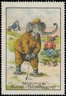 Hannover: Elefant Spielt Golf Reklamemarke - Cinderellas