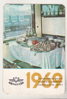 Romanian Small Calendar - 1969 CFR - Calendars