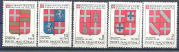 1980 ORDRE MALTE 178-82 **  Armoiries - Malte (Ordre De)