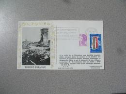 Enveloppe 1984 40 è Anniversaire - Robert-Espagne   Cachet Meuse - Postmark Collection (Covers)