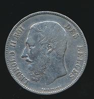 BELGIE LEOPOLD II  5 FRANC  1871    TOP KWALITEIT  2 SCANS - 09. 5 Francs