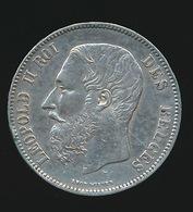 BELGIE LEOPOLD II  5 FRANC  1872    TOP KWALITEIT  2 SCANS - 09. 5 Francs