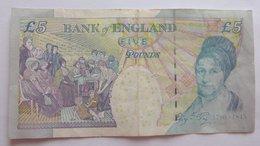 A312  Billet De Banque Royaume Uni De 5 Pounds  (voir Photo) - 1952-… : Elizabeth II