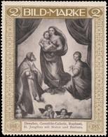 Raphael: H. Jungfrau Mit Sixtus Und Barbara Reklamemarke - Erinnophilie