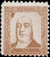 Wien: Georg Friedrich Händel Reklamemarke - Erinnophilie