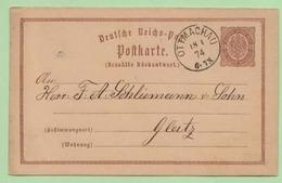 ENTIER POSTAL - Oblitéré  OTTMACHAU 1874 - - Germany
