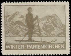 Garmisch-Partenkirchen: Winter-Partenkirchen Reklamemarke - Cinderellas