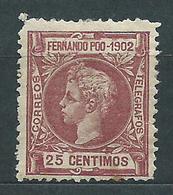 Fernando Poo Sueltos 1902 Edifil 112 (*) Mng - Fernando Poo