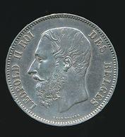 BELGIE LEOPOLD II  5 FRANC  1875    TOP KWALITEIT  2 SCANS - 09. 5 Francs