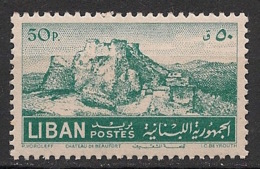 Liban - 1952 - N°Yv. 86 - Chateau De Beaufort - Neuf Luxe ** / MNH / Postfrisch - Libanon