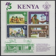 Kenya (1982) Yv. Bf. 16  /  Boy Scouts - Scouting - Scout - Wheelchair - Movimiento Scout