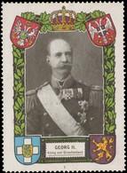 Georg II. König Von Griechenland Reklamemarke - Erinnophilie