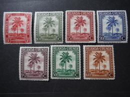 Ruanda-Urundi - Timbres Neufs X7 - 1924-44: Neufs