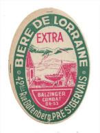Etiquette De  Bière  Extra  - De Lorraine  -  Le Pré Saint Gervais  (93) - Bière