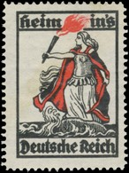 Heim Ins Deutsche Reich Reklamemarke - Erinnofilia
