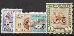 Soudan - 1962 - Service - N°Yv. 102a - 103a - 109a - 114a - Sans Filigrane - Neuf Luxe ** / MNH / Postfrisch - Sudan (1954-...)