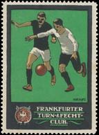 Frankfurt/Main: Fußball Reklamemarke - Erinnophilie