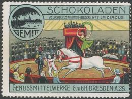 Dresden: Im Circus Reklamemarke - Cinderellas