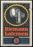 Riemann Laternen Reklamemarke - Erinnophilie