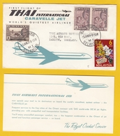 FIRST FLIGHT OF THAI INTERNATIONAL CARAVELLE JET.SELANGOR-BANGKOK,1964. - Avions