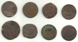 8-MONNAIES-FEODALES-ET-PROVINCIALES-LOUIS-XIII-MAURICE-DE-LA-TOUR-ETC - 476-1789 Feodale Periode