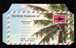 POLYNESIE FRANçAISE  Aérogramme AIR LETTER  68 F CFP  Gomme Bandes Collage Intacte  SUPERBE  2 Scan - Aérogrammes
