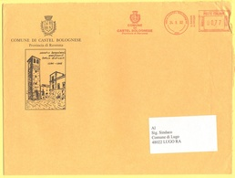 ITALIA - ITALY - ITALIE - 2002 - 00,77 EMA, Red Cancel - Comune Di Castel Bolognese - Viaggiata Da Castel Bolognese Per - Affrancature Meccaniche Rosse (EMA)