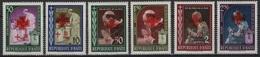Haiti (1959) Yv. 415/17 + Av. 164/66  /  Popes - Religion - Red Cross - Croix Rouge - Pausen
