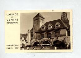 Carton Alsace  Exposition Paris 1937 Mine Potasse - Publicités