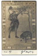 CARTE PHOTO 53è R I 32è DIVISION LA GRAPPE 1918 Un Soldat Un Renard Raisins Trop Verts CPA 2 SCANS - Régiments